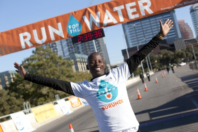 gilbert tuhabonye run for the water