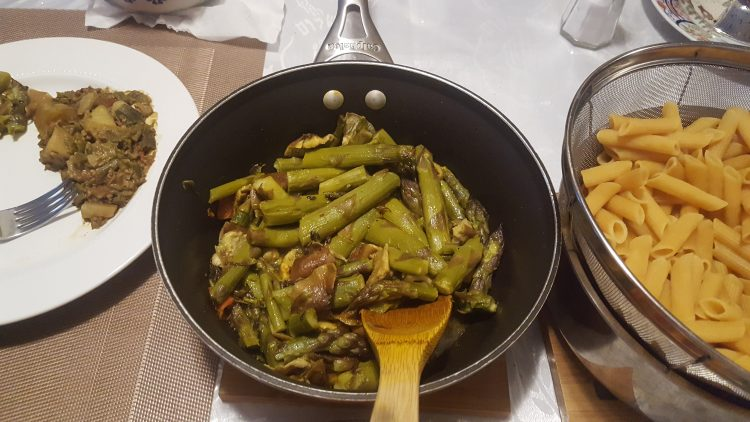 How to cook Asparagus on stove with Shitake mushrooms Nepali Style