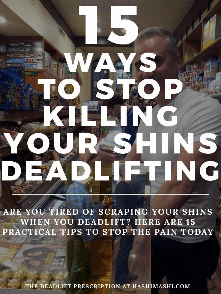 scraping shins deadlift prevention tips