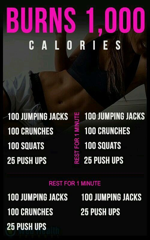 calories burned doing jumping jacks infographic from musely
