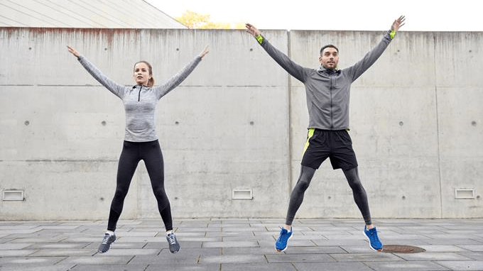 calories burned doing jumping jacks 5 minutes a day