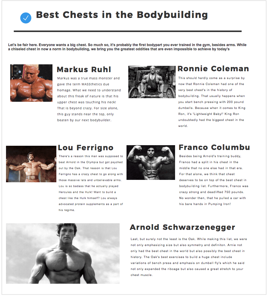 Franco Columbu Workout Tips Infographic