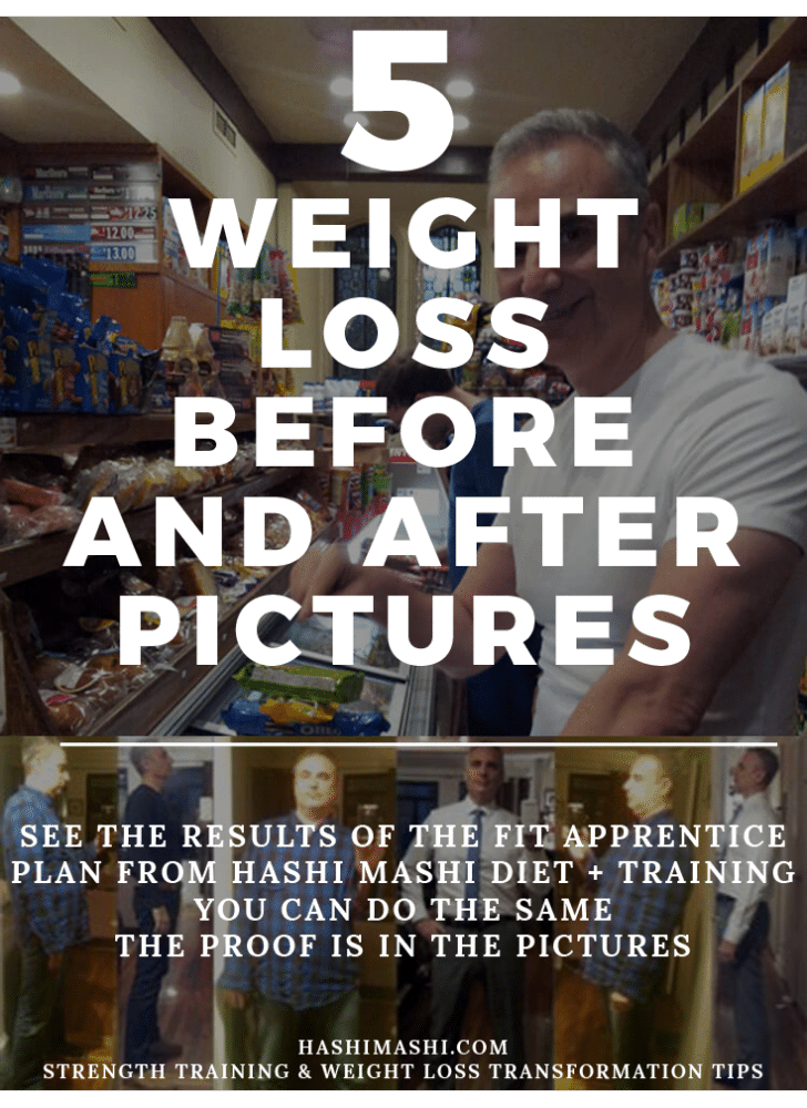weight loss before and after pictures - Hashi Mashi Diet + Training - The Fit Apprentice Program