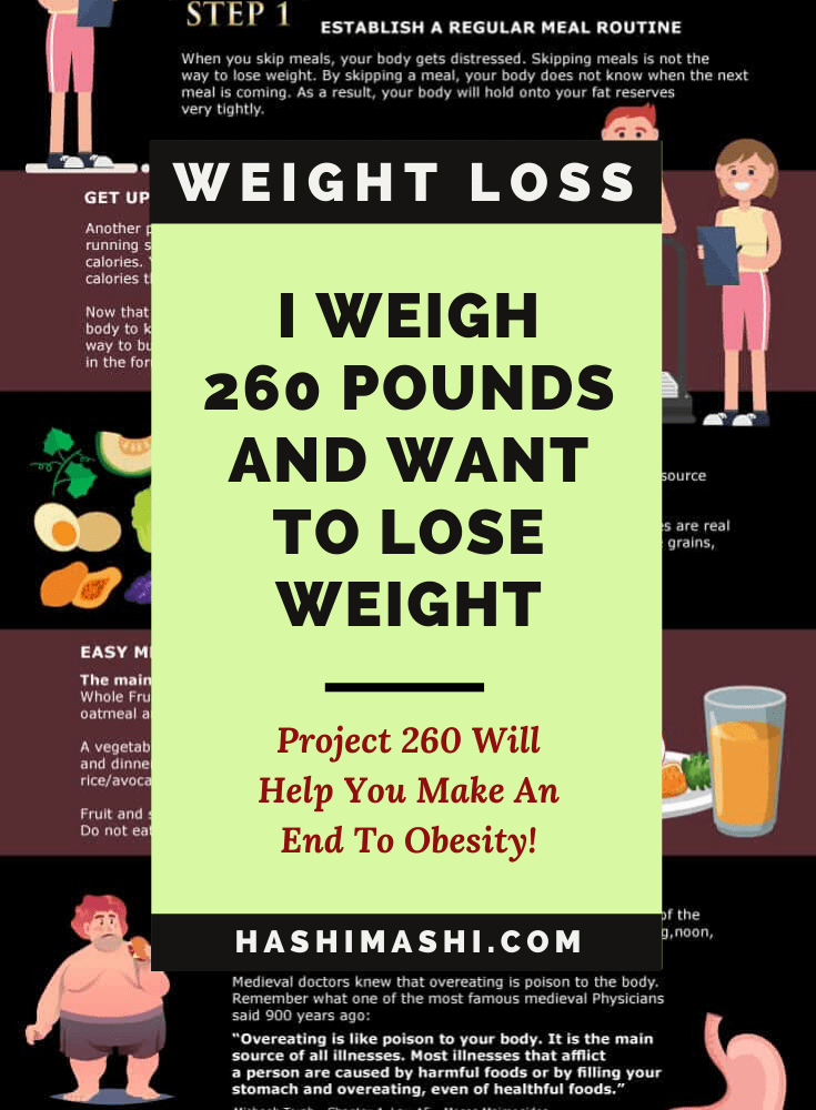 I Weight 260 Pounds And Want To Lose Weight