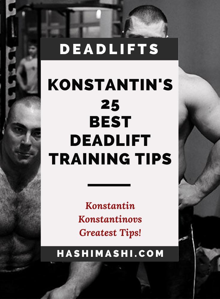 25 Best Konstantin Konstantinovs Deadlift Workout Tips