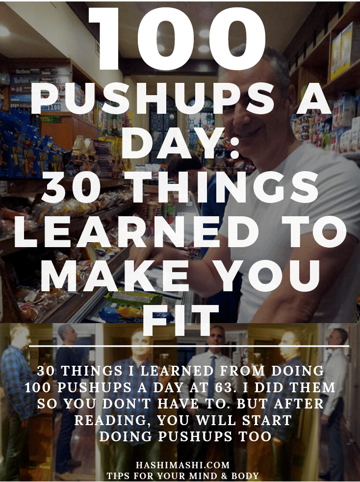100 pushups a day results: 30 things I learned from doing 100 pushups a day at 63. I did them so you didn't have to. But after reading, you will start doing pushups too