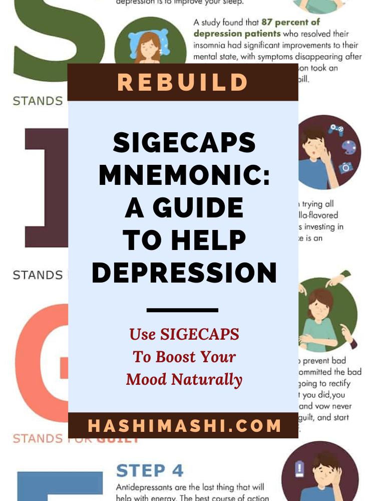 SIGECAPS Mnemonic - A Guide To Help Major Depressive Disorder - Image Credit: HashiMashi.com