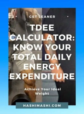 TDEE Calculator - Know Your Total Daily Energy Expenditure - HashiMashi.com