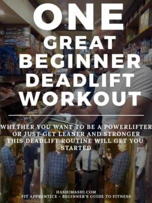 beginner deadlift workout routine Image Credit HashiMashi.com