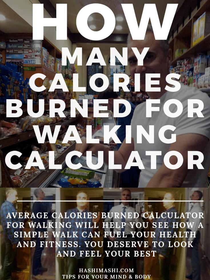 calories burned calculator for walking