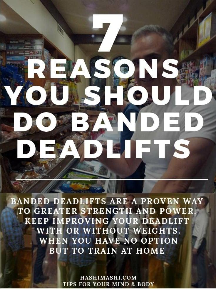 banded deadlifts - 7 Reasons you should do resistance band deadlifts Image Credit - HashiMashi.com