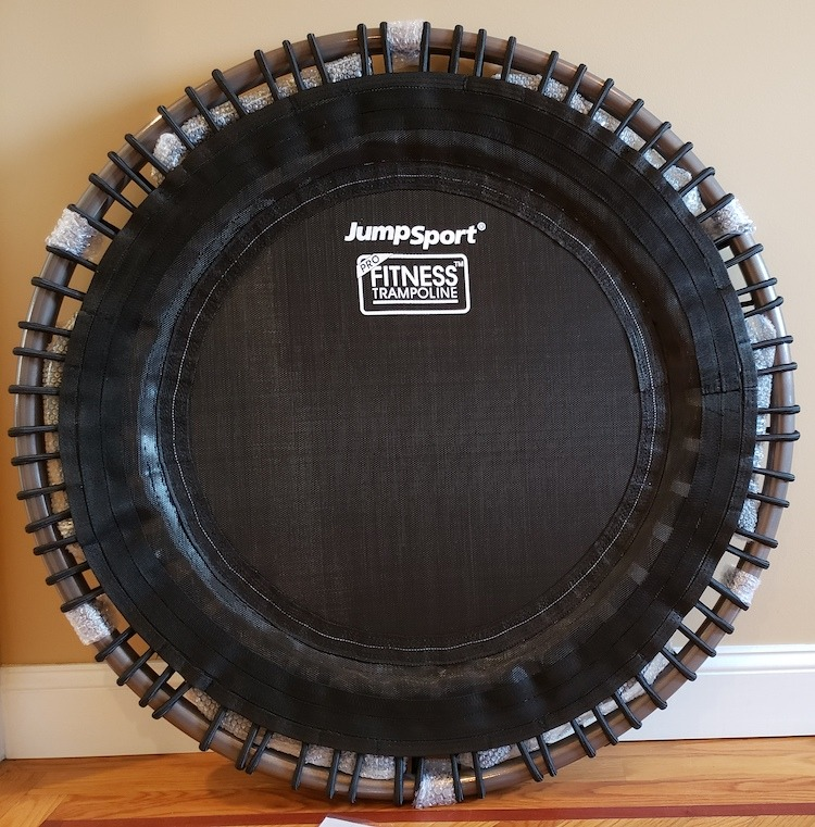 JumpSport Fitness Trampoline 350 Pro Out of the Box Image Credit HashiMashi.com