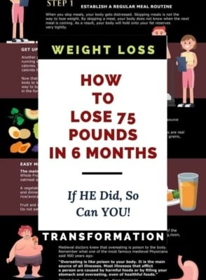 How to Lose 75 Pounds in 6 Months Image Credit HashiMashi.com